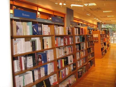 It looks like this bookstore has a huge section devoted to Romans, but in fact, it's in Montreal where in French, Romans means 'novel.'