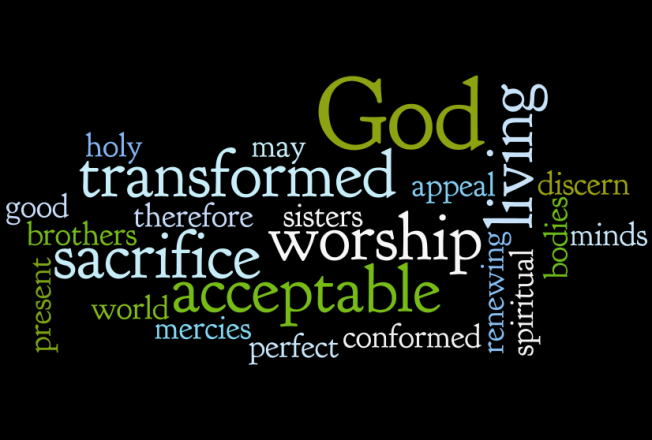 Romans 12 1 Wordle