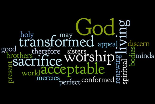 Romans 12 1 Wordle