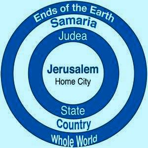 Jerusalem Judea Samaria And The Ends Of The Earth Map.Jerusalem Judea And The Uttermost Places On Earth Christianity 201