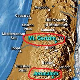 Jewish Temple vs Samaritan Temple location