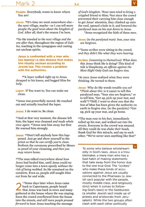 The Voice Bible - Sample Page