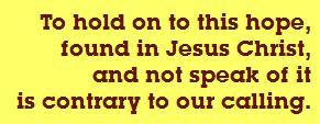 Hope found in Jesus Christ