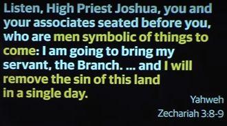 Zechariah 3 8-9