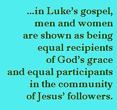 Gender pairing in Luke's gospel